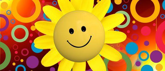 Usměvavé žluté sluníčko