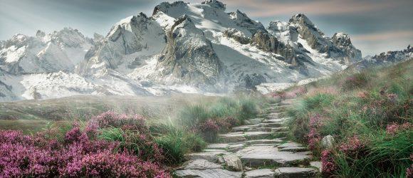 Hora a schody do nebe
