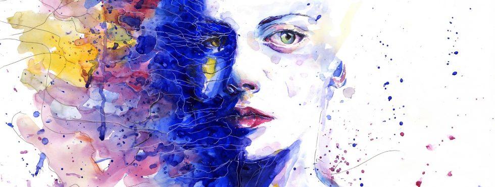 Žena v barvách