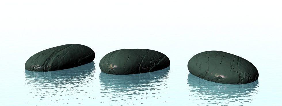 Tři kameny vedle sebe